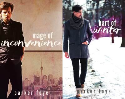 Covers of Mage of Inconvenience and Hart of Winter