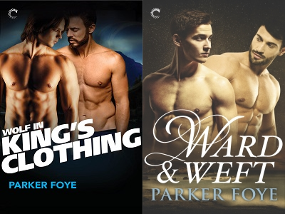 Covers of Wolf in King's Clothing and Ward & Weft
